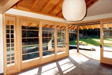 Poolhouse interior
